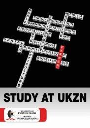 Study at UKZN - University of KwaZulu-Natal