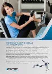 rudergerät concept 2, modell e auf zu neuen ufern - Precor News