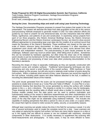 Poster Proposal for 2012 3D Digital Documentation Summit, San ...
