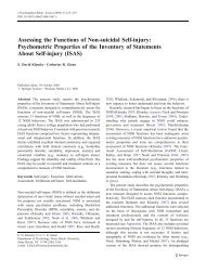 Assessing the Functions of Non-suicidal Self-injury - University of ...