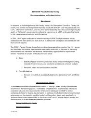 Recommendations for Further Actions - Academic Affairs