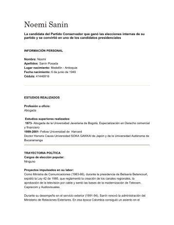 Hoja de vida Noemi Sanín.pdf - Maloka
