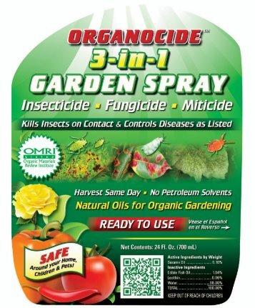 ORGANOCIDE 3-in-1 GARDEN SPRAY - Organic Laboratories, Inc.