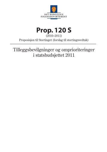 Prop. 120 S (2010–2011) - Statsbudsjettet