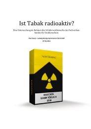 Ist Tabak radioaktiv? - Fachverband für Strahlenschutz eV