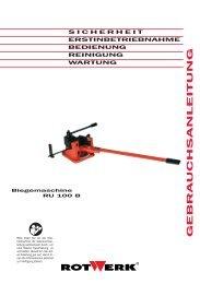 RU 100 B Biegemaschine.indd - Rotwerk