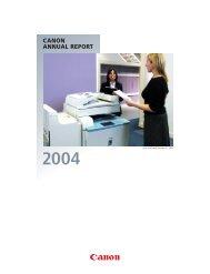 canon annual report 2004