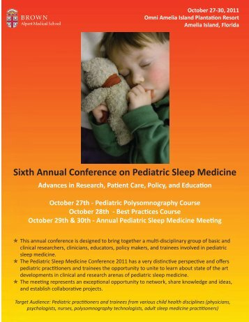 Sixth Annual Conference on Pediatric Sleep Medicine
