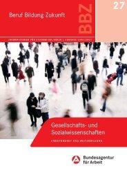 Beruf Bildung Zukunft Gesellschafts- und Sozialwissenschaften