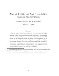 Nominal Rigidities and Asset Pricing in New Keynesian Monetary ...