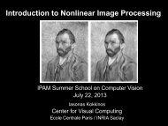 Introduction to Nonlinear Image Processing - Ecole Centrale Paris