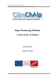 ClimChAlp - des Bayerischen Landesamt für Umwelt - Bayern