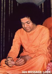 His Message - Love - International Sri Sathya Sai Organization