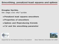 Smoothing, penalized least squares and splines - IMAGe