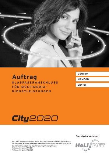 Auftrag - City2020