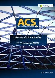 ACS Informe Resultados 1T10 - Grupo ACS