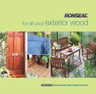 for all your exterior wood - John Nicholls