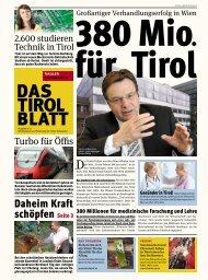 """"""" Diesen Sommer gehe ich auf die Wildspitze ... - Tiroler Volkspartei"""