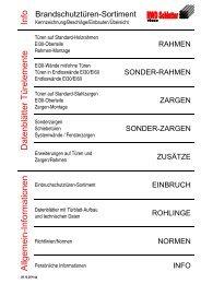 Brandschutztüren-Sortiment - RWD Schlatter