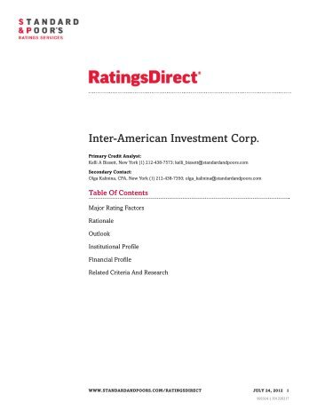 Full analysis - Inter-American Investment Corporation