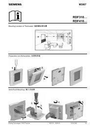 RDF310.2空调温控器安装说明