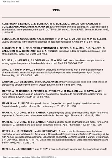 IST - Publication 1996