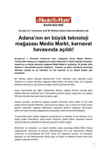 Adana'nın en büyük teknoloji mağazası Media Markt, karnaval ...