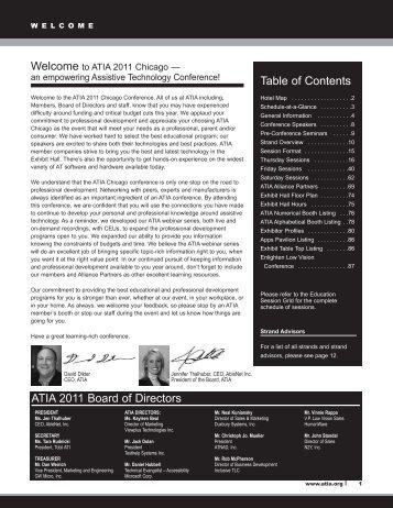 Table of Contents ATIA 2011 Board of Directors - Assistive ...