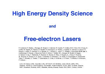 High Energy Density Science Free-electron Lasers