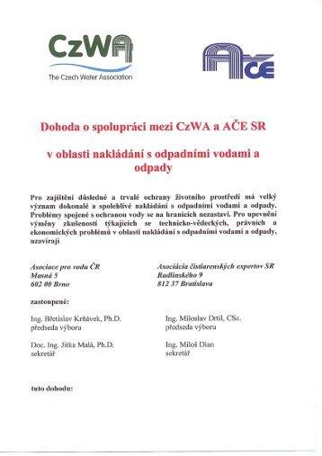 Dohoda o spolupráci - CzWA