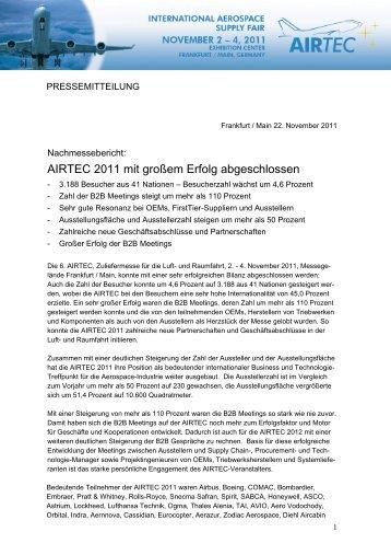 AIRTEC 2011 mit großem Erfolg abgeschlossen