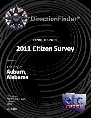 DirectionFinder® 2011 Citizen Survey - City of Auburn