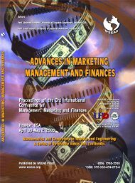 ADVANCES IN MARKETING, MANAGEMENT AND ... - WSEAS