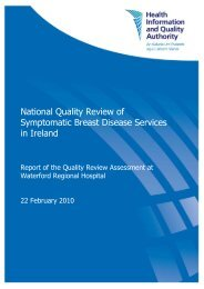 Symptomatic Breast Disease Services, Report of the Quality ... - hiqa.ie