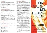 EIN TRAUM DER LEIDEN- SCHAFT