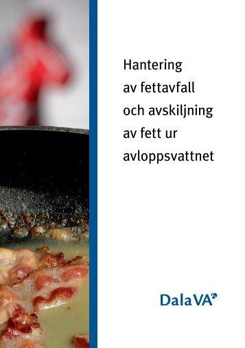 Hantering av fettavfall och avskiljning av fett i avloppsvattnet - Avesta
