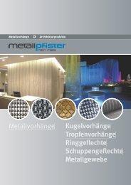 Metallvorhänge komplett - E. Pfister & Cie AG