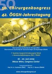 Programm ÖGC-ÖGGH 2009 - 54. Österreichischer ...
