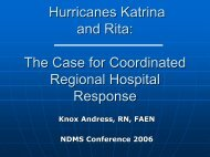 Hurricanes Katrina and Rita: The Case for Coordinated Regional ...