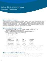 Fellowship in Aesthetics Medicine - Worldhealth.net