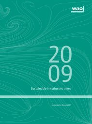 Sustainability Report 2009 - Wilo