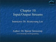 Input and Output Streams - TAMU Computer Science Faculty Pages