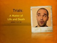 Trials: - Faith Fellowship Church