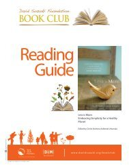Reading Guide-Less is More (PDF) - David Suzuki Foundation