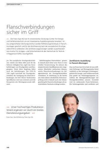 Presse-Bericht - Franz Gysi