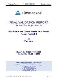 Hoa Phat Coke Ovens Waste Heat Power Power Project II in ... - Nefco