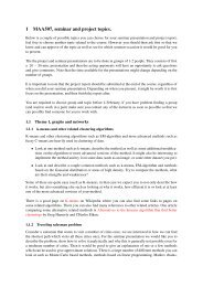 Seminar topics (pdf 120 kB)