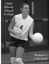 W.Volleyball - Rhode Island College Athletics