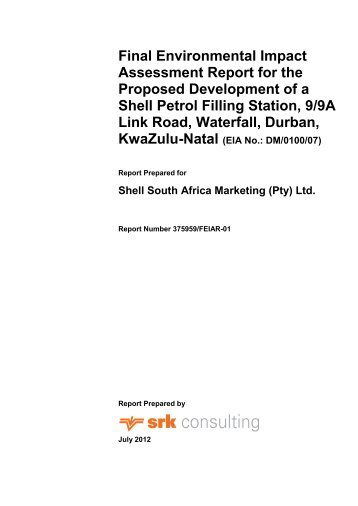 Final Environmental Impact Assessment Report for ... - SRK Consulting