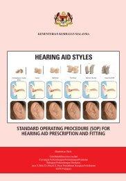 HEARING AID STYLES - Kementerian Kesihatan Malaysia